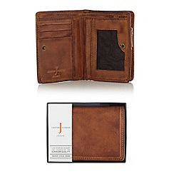 J by Jasper Conran - Brown leather billfold wallet in a gift box