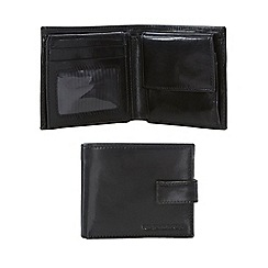 RJR.John Rocha - Black leather tabbed wallet in a gift box