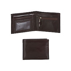 RJR.John Rocha - Brown Italian leather wallet with pass case in a gift box