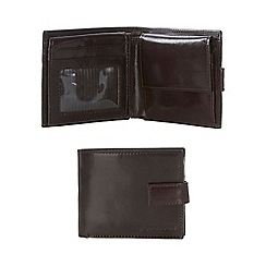 RJR.John Rocha - Brown leather tabbed wallet in a gift box