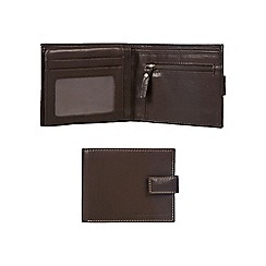 RJR.John Rocha - Brown leather tabbed billfold wallet in a gift box