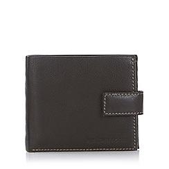 RJR.John Rocha - Designer brown contrast stitched leather wallet