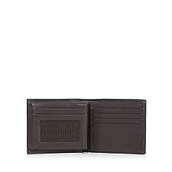 RJR.John Rocha - Designer brown contrast stitched leather flip case wallet
