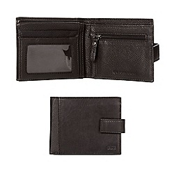 RJR.John Rocha - Black leather tab wallet in a gift box