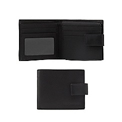 RJR.John Rocha - Black leather billfold tab wallet in a gift box