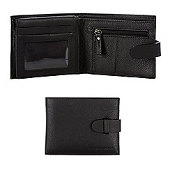 RJR.John Rocha - Black leather tab bi-fold wallet in a gift box