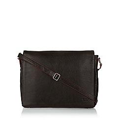 Osprey - Dark brown leather briefcase