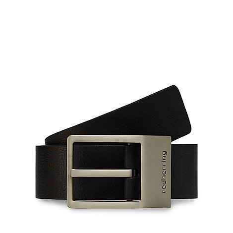 Red Herring - Black branded keeper belt