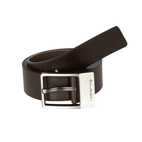 Red Herring - Brown branded keeper belt