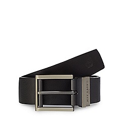 Jeff Banks - Big and tall designer black reversible belt