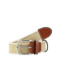Maine New England - Natural canvas and suede belt