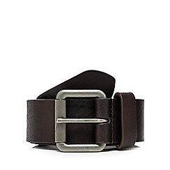 Mantaray - Brown leather buckled belt