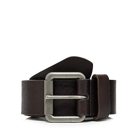 Mantaray - Brown distressed leather belt