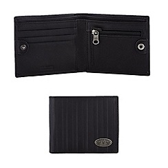 Animal - Black leather raised stripe billfold wallet