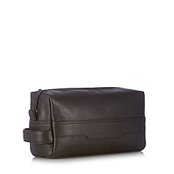 RJR.John Rocha - Designer brown leather wash bag