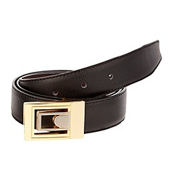 Thomas Nash - Black gold plate reversible belt