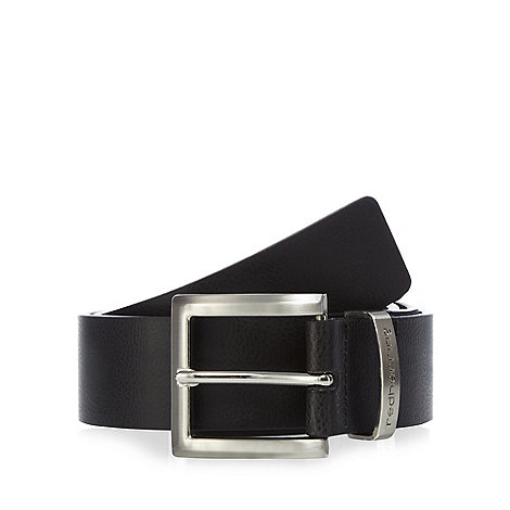 Red Herring - Black branded keeper belt