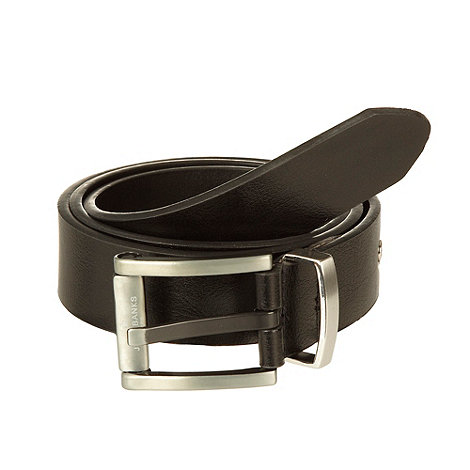 Jeff Banks - Designer black metal roll belt