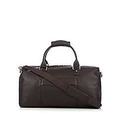 RJR.John Rocha - Designer brown leather holdall bag