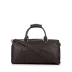RJR.John Rocha - Designer brown leather holdall bag