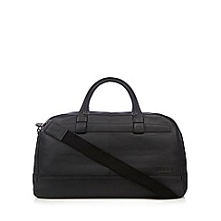 J by Jasper Conran - Designer black leather holdall bag