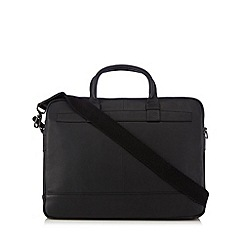 J by Jasper Conran - Designer black nappa leather two handle laptop bag