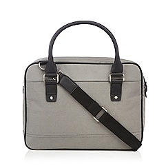 J by Jasper Conran - Designer grey canvas two handle laptop bag