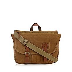 RJR.John Rocha - Designer khaki heavy wash effect satchel