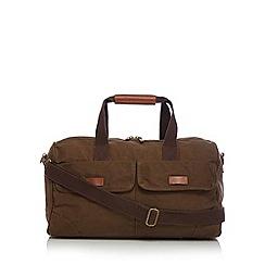 RJR.John Rocha - Designer khaki canvas holdall bag