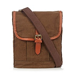 RJR.John Rocha - Designer khaki canvas shoulder bag