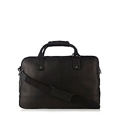 J by Jasper Conran - Designer black leather holdall