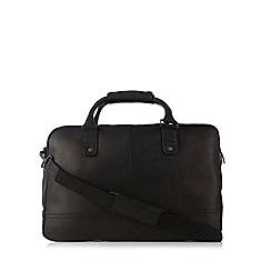 J by Jasper Conran - Designer black leather holdall