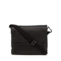 J by Jasper Conran - Designer black leather despatch bag