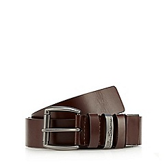 Ben Sherman - Brown cut to fit leather belt in a gift box