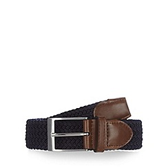 Maine New England - Navy plaited pin buckle belt