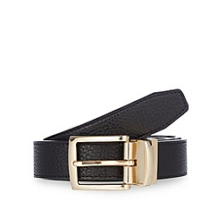 Thomas Nash - Black reversible pin buckle belt