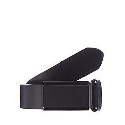 Thomas Nash - Black leather plate buckle belt