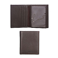 J by Jasper Conran - Brown leather trifold wallet in a gift box