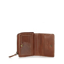 J by Jasper Conran - Designer tan zipped leather wallet