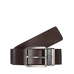 Jeff Banks - Designer brown reversible pin buckle belt