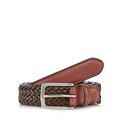 Hammond & Co. by Patrick Grant - Designer tan plaited leather belt