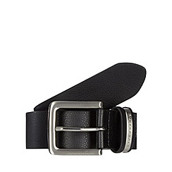Red Herring - Black leather pin buckle belt