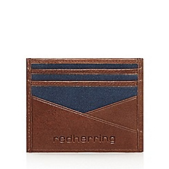 Red Herring - Brown leather card holder