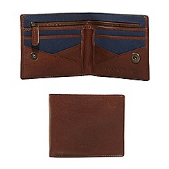 Red Herring - Brown leather zip wallet