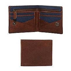 Red Herring - Brown leather zip wallet