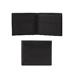 RJR.John Rocha - Black leather flip up wallet in a gift box