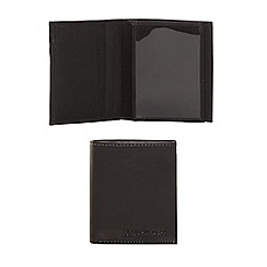RJR.John Rocha - Black leather small wallet in a gift box