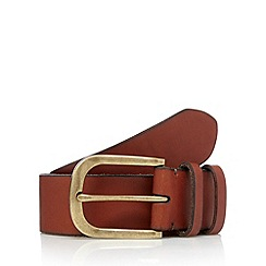 RJR.John Rocha - Designer tan leather branded tab belt