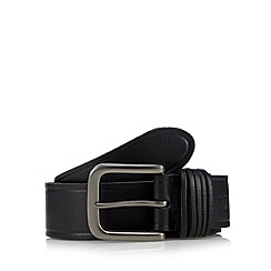 RJR.John Rocha - Designer black leather multi keeper belt