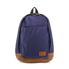 Red Herring - Navy cotton backpack